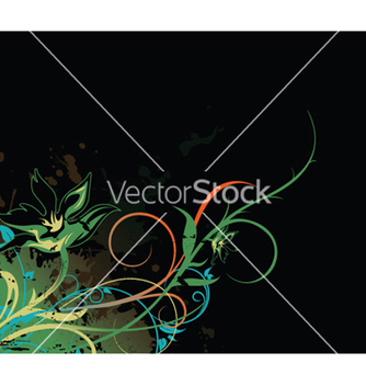 Free splash floral background vector - vector gratuit #247953