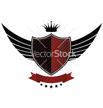 Free vintage emblem with shield vector - Kostenloses vector #247993