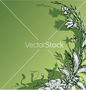 Free vintage floral background vector - Free vector #248003