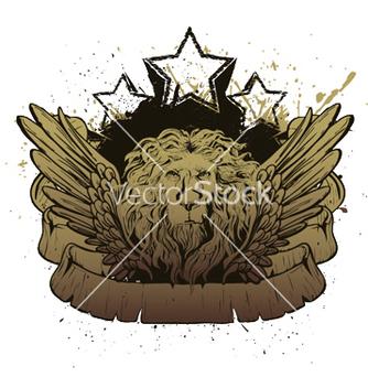 Free lion emblem vector - Free vector #248373