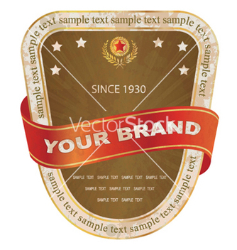 Free grunge label with ribbon vector - Free vector #248403