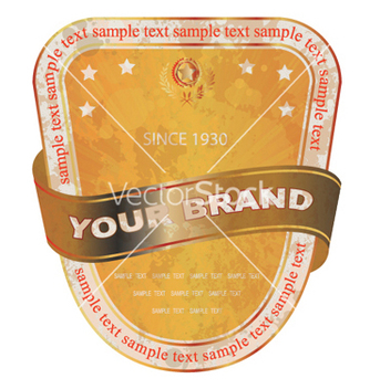 Free grunge label with ribbon vector - Free vector #248443