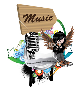 Free music emblem vector - Free vector #248543