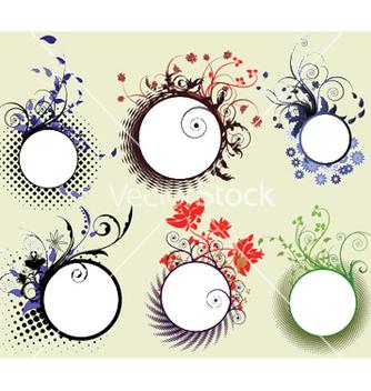 Free vintage floral frames set vector - Free vector #248623