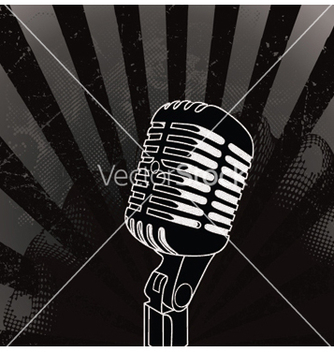 Free concert poster with microphone vector - бесплатный vector #249023