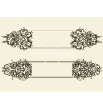 Free baroque floral frames set vector - Kostenloses vector #249103