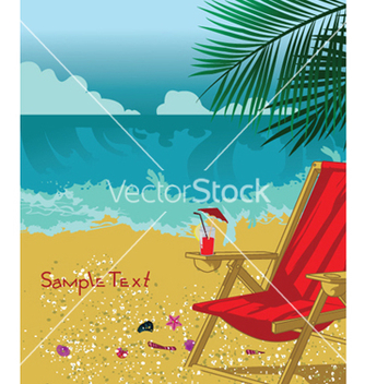 Free summer background with long chair vector - Free vector #249153
