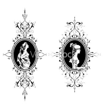 Free vintage frames set vector - Free vector #249173