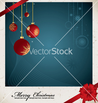 Free christmas greeting card vector - Free vector #249193