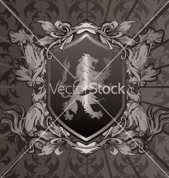 Free vintage emblem with shield vector - Kostenloses vector #249223
