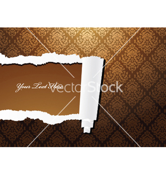Free torn damask wallpaper vector - Free vector #249373