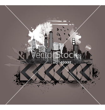 Free vintage city background vector - Free vector #249523
