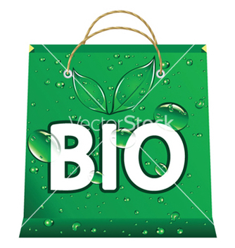 Free bio shopping bag vector - Kostenloses vector #249623