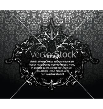 Free vintage silver floral frame vector - Free vector #249783