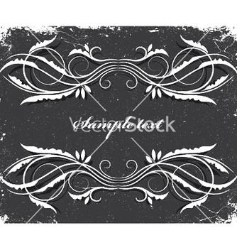 Free vintage floral frame vector - Free vector #250023