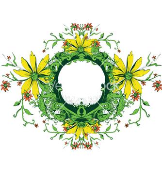 Free floral frame vector - Kostenloses vector #250363