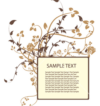 Free floral frame vector - Kostenloses vector #250403