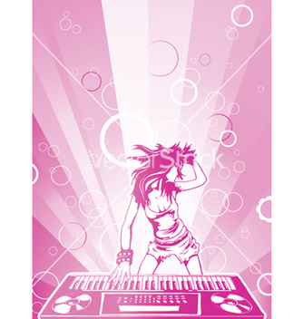 Free concert poster with dj girl vector - Free vector #250413
