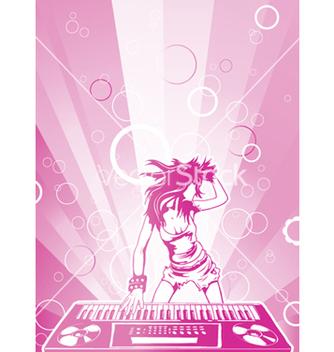Free concert poster with dj girl vector - Kostenloses vector #250413