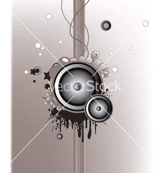 Free concert poster with speakers vector - Free vector #250563