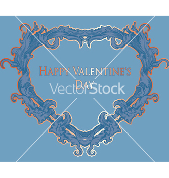 Free vintage heart made of floral vector - Free vector #250743