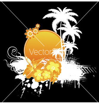 Free summer floral frame vector - Free vector #250923