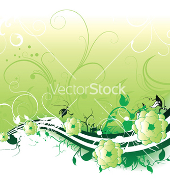 Free abstract spring floral background vector - Free vector #250983