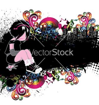 Free emo kid vector - Free vector #251123
