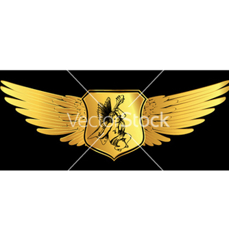 Free shield with wings vector - Kostenloses vector #251313