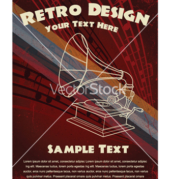 Free retro music poster vector - бесплатный vector #251343