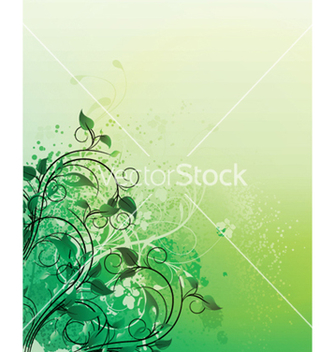 Free splash floral background vector - vector #251373 gratis