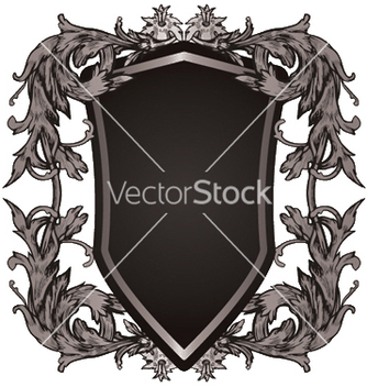 Free shield with floral vector - Kostenloses vector #251583