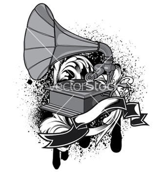 Free music emblem vector - Free vector #251633