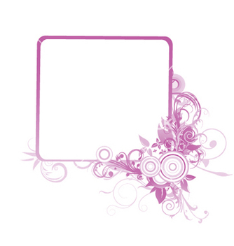 Free floral frame with space for text vector - Free vector #251733
