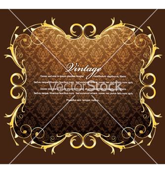 Free vintage gold frame vector - Kostenloses vector #251853