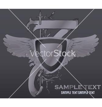Free vintage emblem with shield vector - Kostenloses vector #251933