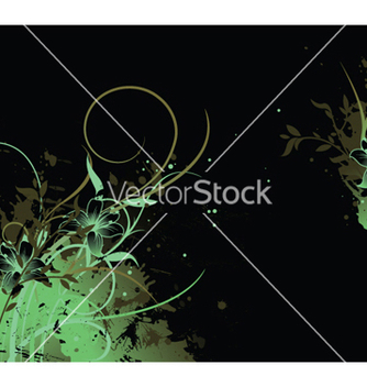 Free splash floral background vector - vector gratuit #252033