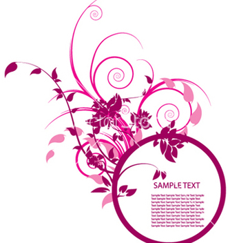 Free floral frame vector - Free vector #252043