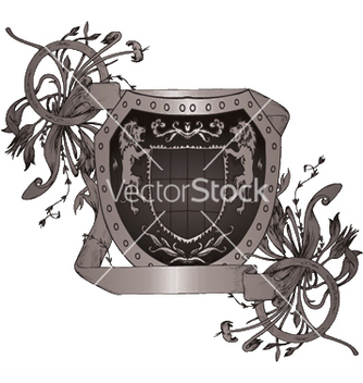 Free shield with scroll vector - Kostenloses vector #252243