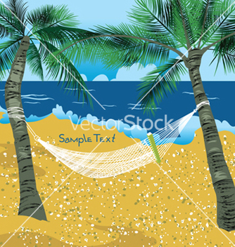 Free summer background with palm trees vector - Free vector #252373