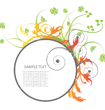 Free floral frame vector - Free vector #252383