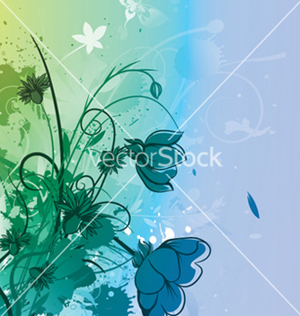 Free watercolor floral background vector - vector gratuit #252643