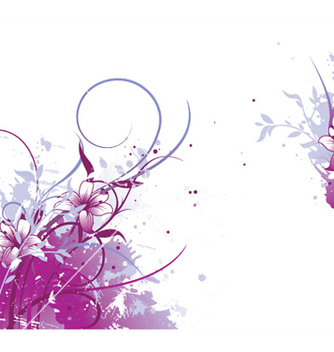 Free splash floral background vector - vector gratuit #252843