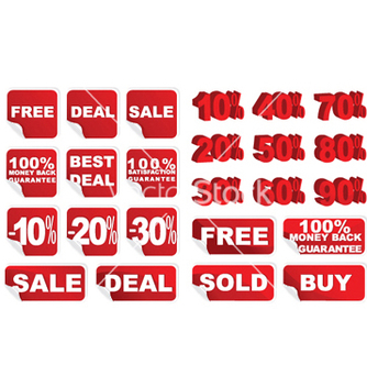 Free sticker set vector - Free vector #252933
