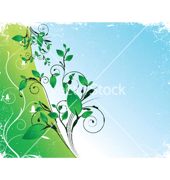 Free abstract floral background with space for text vector - Free vector #252953