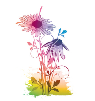 Free watercolor floral vector - vector gratuit #252993