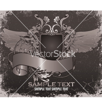 Free vintage emblem with shield vector - Free vector #253273