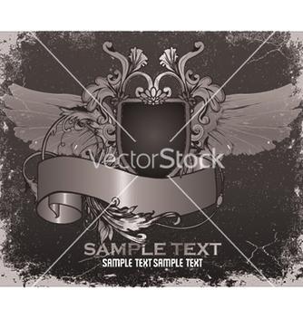 Free vintage emblem with shield vector - Kostenloses vector #253273