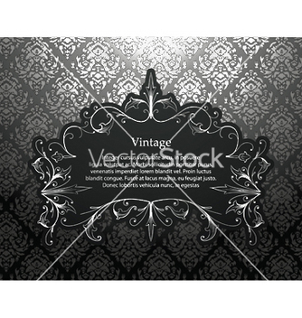 Free vintage silver floral frame vector - Free vector #253393