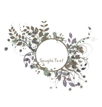 Free vintage floral frame vector - Kostenloses vector #253413